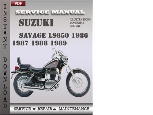 Suzuki Savage Ls650 1986 1987 1988 1989 Factory Service Repair Manurhtradebit: 1986 Suzuki Savage 650 Schematics At Gmaili.net