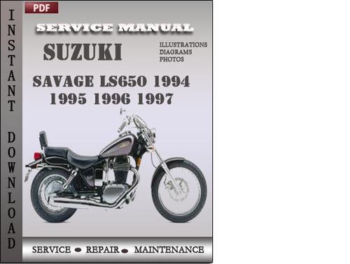 suzuki savage ls650 1994 1995 1996 1997 factory service repair manu rh tradebit com 1996 Suzuki Savage 650 Review 2000 Suzuki Marauder