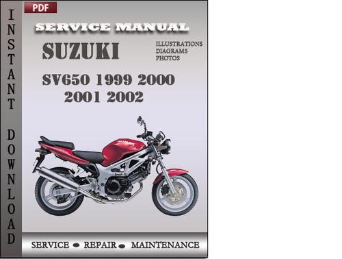 suzuki sv650 1999 2000 2001 2002 factory service repair manual down rh tradebit com 2002 Suzuki SV650 Custom 2002 Suzuki SV650 Standard