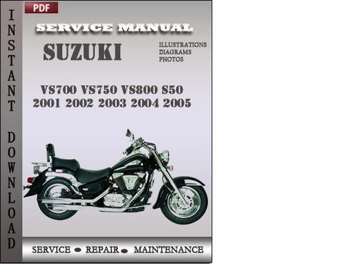 suzuki vs700 vs750 vs800 s50 2001 2002 2003 2004 2005 factory servi rh tradebit com Suzuki Intruder VS800 Bobber 2002 suzuki intruder 800 repair manual