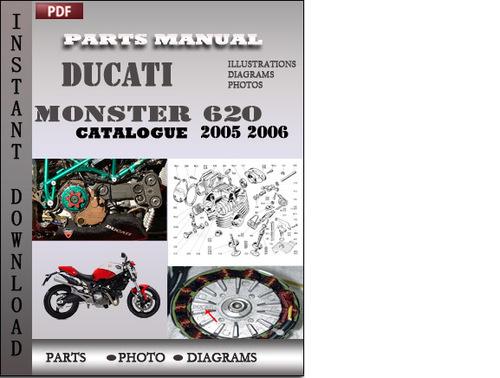 Pay for Ducati Monster 620 DARK 2005 2006 Parts Manual Catalog PDF Download