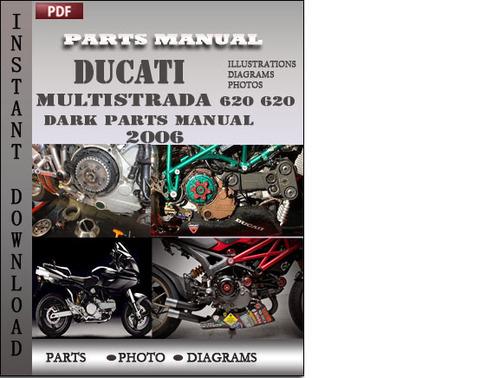 ducati multistrada 620 620 dark 2006 parts manual catalog pdf downl rh tradebit com service manual ducati multistrada 1000 service manual ducati multistrada 1000