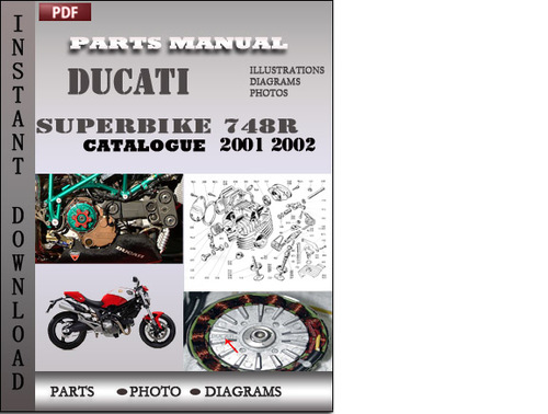 Pay for Ducati Superbike 748R 2001 2002 Parts Manual Catalog PDF Download