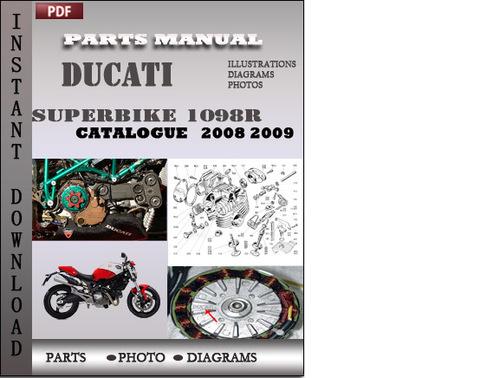 ducati superbike 1098r 2008 2009 parts manual catalog pdf. Black Bedroom Furniture Sets. Home Design Ideas
