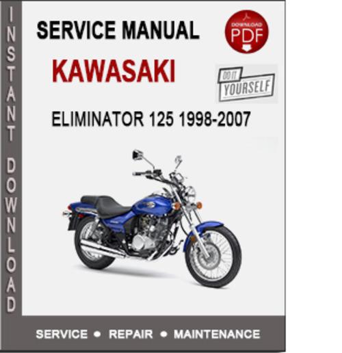 kawasaki eliminator 125 1998 2007 service repair manual pdf downl rh tradebit com kawasaki zl600 eliminator workshop manual kawasaki zl600 eliminator workshop manual