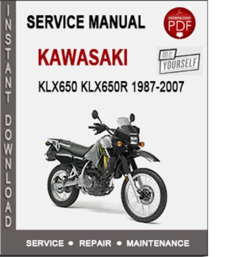 Kawasaki Klx  Service Manual Pdf
