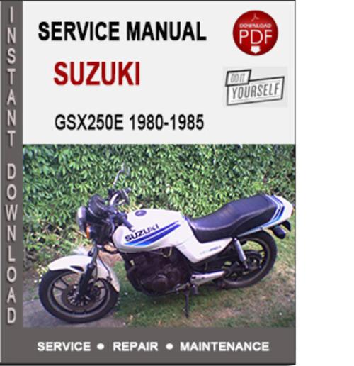 suzuki gsx250e 1980 1985 service repair manual pdf. Black Bedroom Furniture Sets. Home Design Ideas