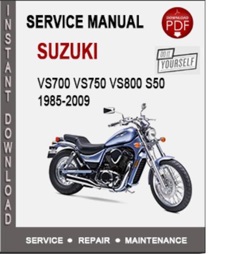 Suzuki Vs700 Vs750 Vs800 S50 Intruder 1985-2009 Service