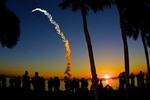 Viewers watch Space Shuttle Discovery Blast-off at Sunrise