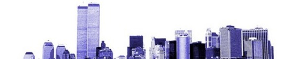 Thumbnail NYC skyline with World Trade Center, monochrome, web banner