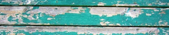 Thumbnail Dull, green flaking paint, web banner photo
