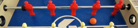 Thumbnail Plastic foosbal men face-off, web banner photo