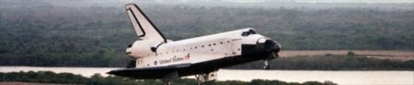 Thumbnail Space Shuttle Endeavour landing, web banner photo