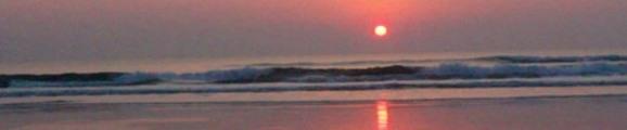 Thumbnail Sunrise over Atlantic Ocean surf, web banner photo
