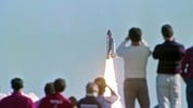 Spectators watch Space Shuttle launch