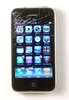 Thumbnail Smashed smart phone, broken glass