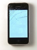 Thumbnail Smart phone with shattered glass faceplate