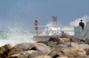 Thumbnail Girls watch Hurricane Irene Waves