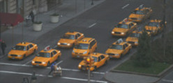 Thumbnail New York Taxis at a traffic light