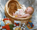 Thumbnail Baby in a Basket