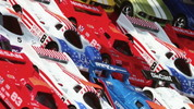 Colorful Toy Race Cars