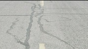 Thumbnail Utah Highway footage, flickering film