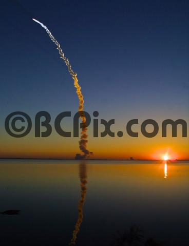 Pay for Space Shuttle sunrise blast-off