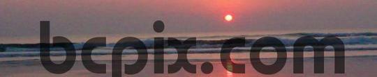 Pay for Sunrise over Atlantic Ocean surf, web banner photo