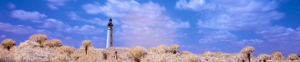 Pay for Color Infrared Lighthouse and Clouds, web banner photo