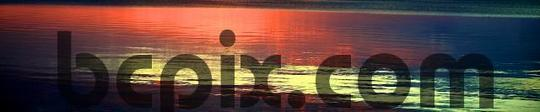 Pay for Sunset reflection, web banner photo