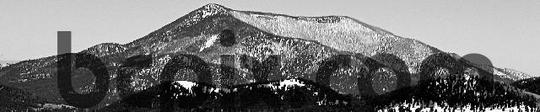 Pay for Snow coverd mounatina, black and white, web banner photo
