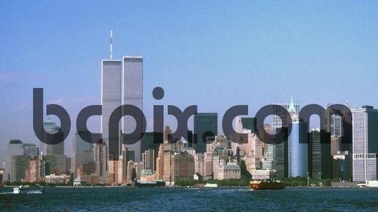 Pay for World Trade Center, New York City skyline 1999