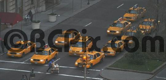 Pay for New York Taxis at a traffic light