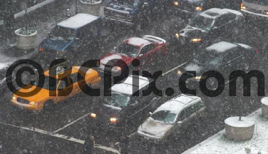 Pay for Park Ave Traffic in snowstorm, NYC