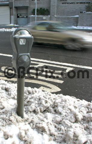 Pay for NY parking meter in the snow