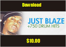 Thumbnail JUST BLAZE Drum Samples 750+ sounds