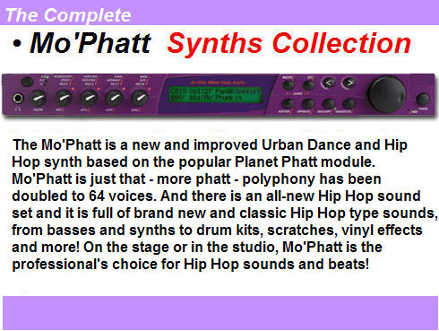 Pay for The Complete Mo´Phatt Synths Collection
