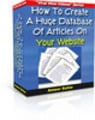 Thumbnail How To Create A Huge Database Of Articles On Your Website