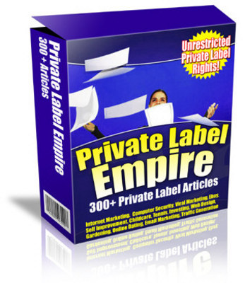Pay for Private Label Empire - 1200 PLR Articles -Build You Own Info