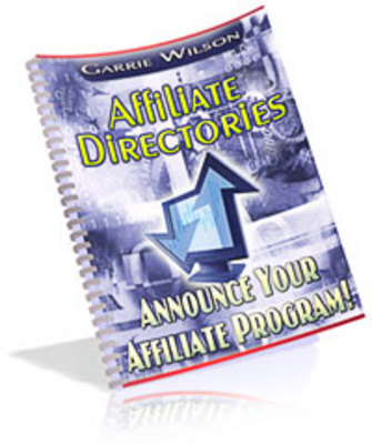 Pay for Affiliate Directories:Announce Your Affiliate Program
