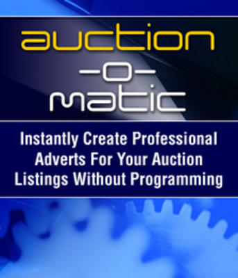 Pay for Auction-O-Matic Auction Software - Automatically Create Auct