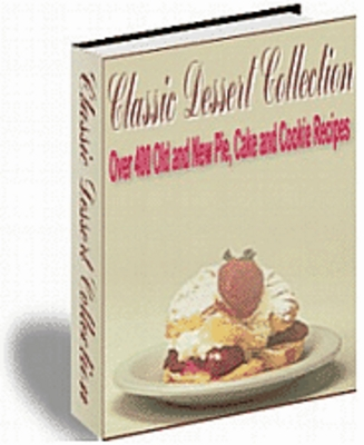 Pay for Classic Dessert Collection - Download Recipes/Manuals