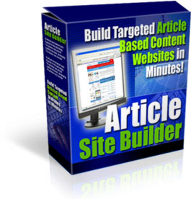 Pay for Article Site Builder. - Download PHP