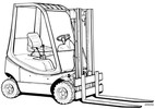 Thumbnail Linde Diesel Forklift Truck 350 series: H12, H16, H18 Operating Manual (User Manual)