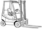 Thumbnail Linde LPG Forklift Truck 350-03 Series: H12, H16, H18, H20 Operating Manual (User Manual)