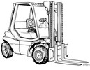 Thumbnail Linde Diesel Forklift Truck 351-03 Series: H20, H25, H30, H35 Operating Manual (User manual)