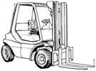 Thumbnail Linde Diesel Forklift Truck 351-02 series: H20, H25, H30 Operating manual (User Manual)