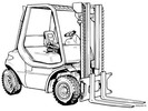 Thumbnail Linde Diesel Forklift Truck 352-04 Series: H30, H35, H40, H45 Operating Manual (User Manual)