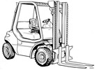 Thumbnail Linde Diesel Forklift Truck 352 and 352-02 Series: H35, H40, H45 Operating Manual (User Manual)
