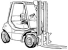 Thumbnail Linde Diesel Forklift Truck 352-03 Series: H35, H40, H45 Operating Manual (User Manual)